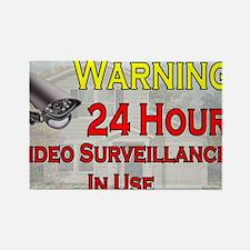 Warning - Video Surveillance Rectangle Magnet