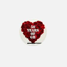 GH 50th Heart Mini Button
