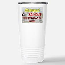 Warning - Video Surveil Travel Mug
