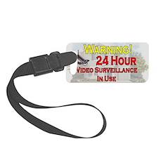 Warning - Video Surveillance Luggage Tag