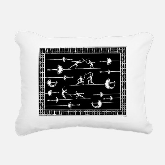 Blade Dancing Rectangular Canvas Pillow