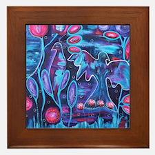 Abloom reproduction of original art Framed Tile