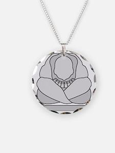 Weeping Buddha Yoga Necklace Circle Charm