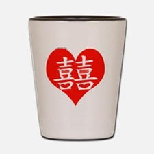 Asian Wedding Double Happiness Shot Glass