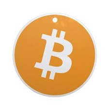 Bitcoin Logo Round Ornament