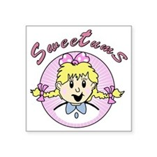 """sweetums Square Sticker 3"""" x 3"""""""