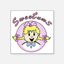 "sweetums Square Sticker 3"" x 3"""