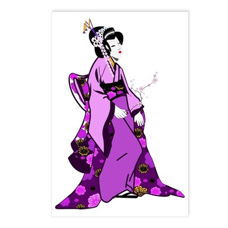 The Geisha Girl Postcards (Package of 8)