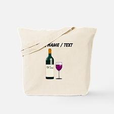 Custom Wine Bottle And Wine Tote Bag