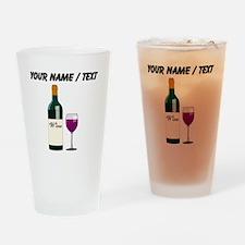 Custom Wine Bottle And Wine Drinking Glass