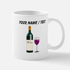Custom Wine Bottle And Wine Mugs