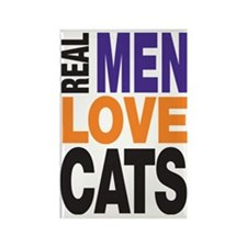 Real Men Love Cats Rectangle Magnet