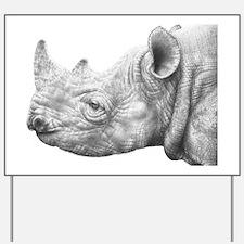 Black Rhino Pillow Case Yard Sign