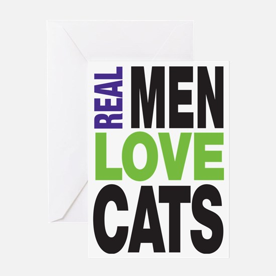 Real Men Love Cats Greeting Card
