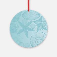 Aqua shells Round Ornament