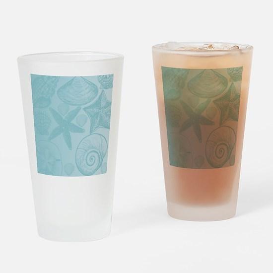 Aqua shells Drinking Glass