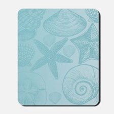 Aqua shells Mousepad