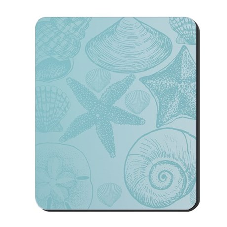 Aqua Shells Mousepad