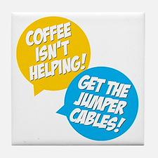 Jumper Cables Tile Coaster