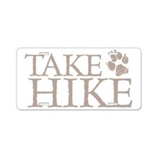 Hiking with Dogs Aluminum License Plate