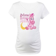 Pink Zebra in Jammies Shirt