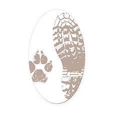 Take a hike Boot n Paw Oval Car Magnet