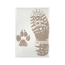 Take a hike Boot n Paw Rectangle Magnet