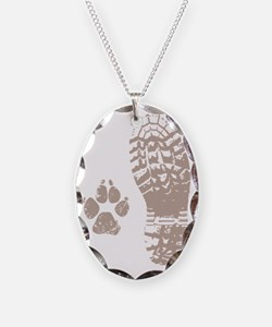 Take a hike Boot n Paw Necklace