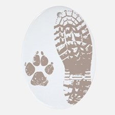 Take a hike Boot n Paw Oval Ornament