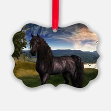 Freisian Horse Ornament