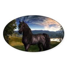 Freisian Horse Decal