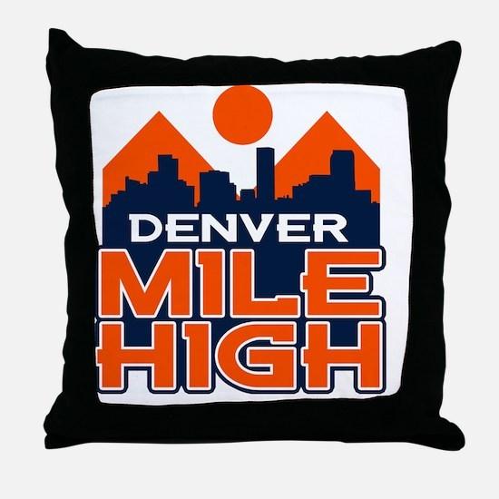 Mile High Throw Pillow