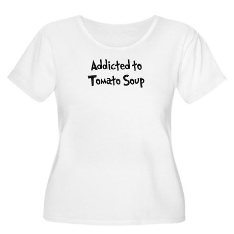 Addicted to Tomato Soup Women's Plus Size Scoop Ne