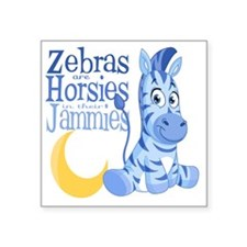 "Blue Zebras in Jammies Square Sticker 3"" x 3"""