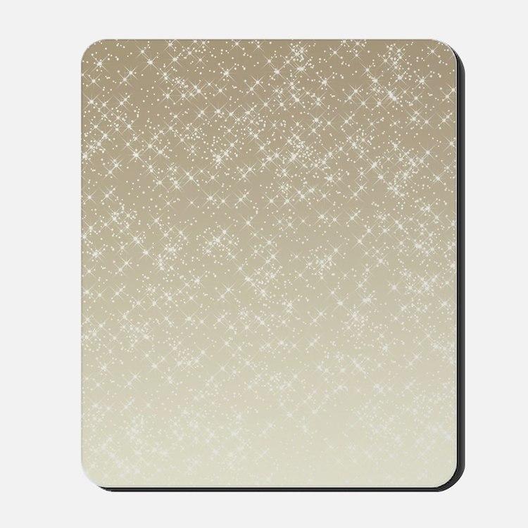 Cream Sparkles Mousepad