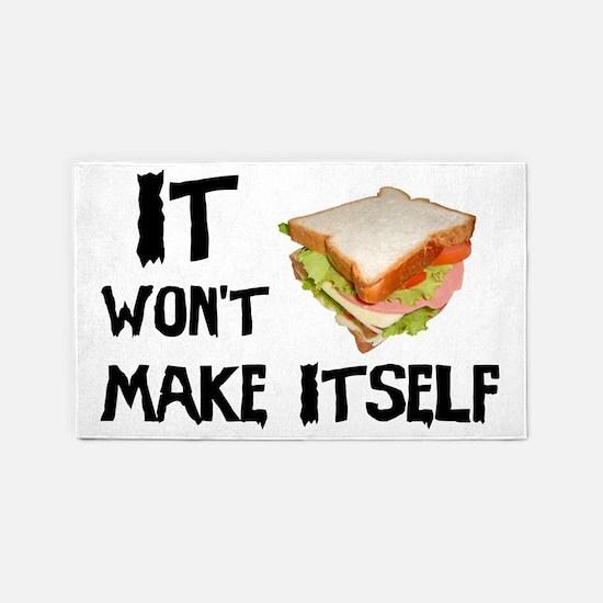 Make me a Sandwich 3'x5' Area Rug