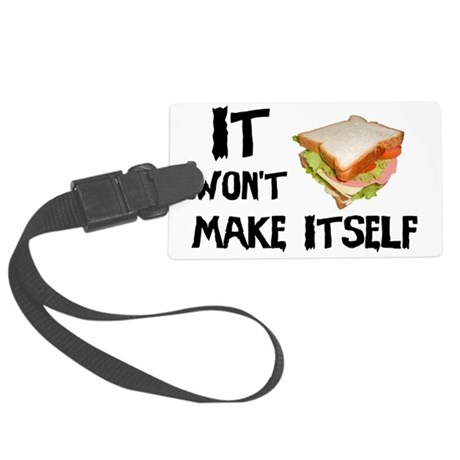 Make me a Sandwich Large Luggage Tag