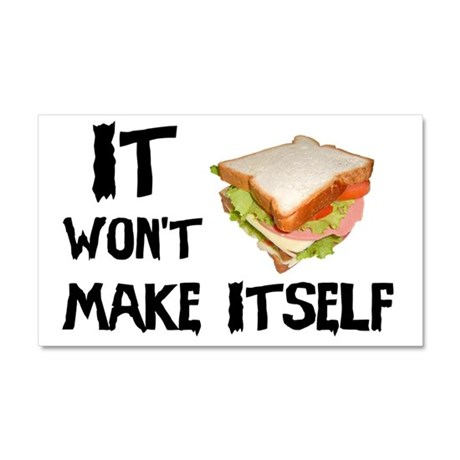 Make me a Sandwich Car Magnet 20 x 12