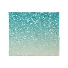 Sparkling Aqua Sea Throw Blanket