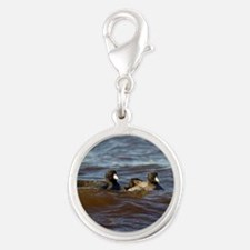 American Coots Silver Round Charm