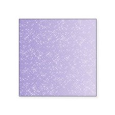 "Sparkling Lilac Square Sticker 3"" x 3"""
