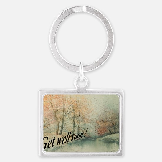 Get Well Soon Greeting Card Landscape Keychain