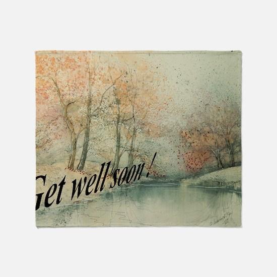 Get Well Soon Greeting Card Throw Blanket
