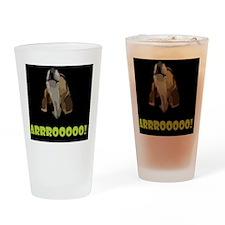 Arrrooooo! Drinking Glass