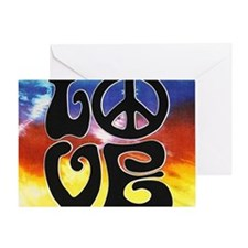 Love  Peace Greeting Card