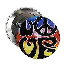 "Love  Peace 2.25"" Button"
