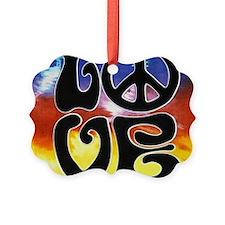 Love  Peace Ornament