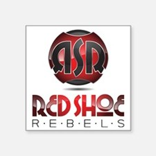 "RsR Shoe Logo Square Sticker 3"" x 3"""