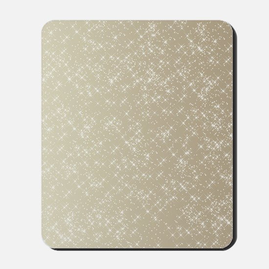 Sparkling Gold and White Mousepad