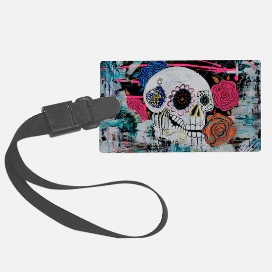 Sugar Skull and Roses Luggage Tag